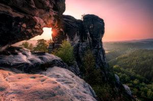 Sächsische Schweiz, Sandstein, Basteigebiet, Sonnenaufgang, Nationalpark