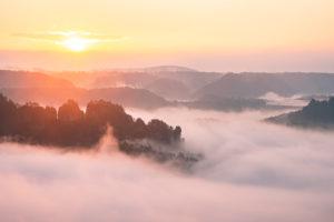 Sächsische Schweiz, Bastei, Sonnenaufgang, Nationalpark