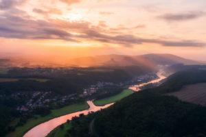 Sächsische Schweiz, Bis Schandau, Sonnenaufgang, Nationalpark