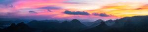 Sonnenaufgang, Sächsische Schweiz, Winterberg, Sachsen, Deutschland, Nationalpark