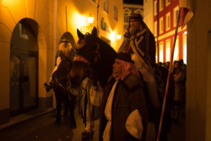 the traditional Glöckler run on the eve of Epiphany in Bad Ischl in the Salzkammergut