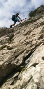 Klamml via ferrata in the Wilder Kaiser in Tyrol