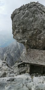 Bivouac box below the Elmauer Halt in the Wilder Kaiser in Tyrol