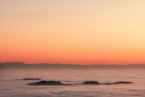 breathtaking view from St. Stefan in the Mühlviertel near the Czech border into the Austrian Alps