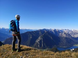 Five peaks via ferrata in the Rofan Mountains on Achensee in Tyrol