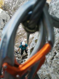 Fünf Gipfel Klettersteig im Rofangebirge am Achensee in Tirol