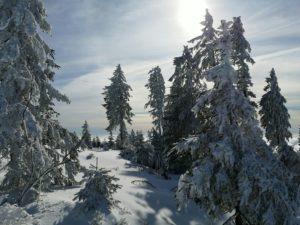 Wintertag im Skigebiet Hochficht im Böhmerwald