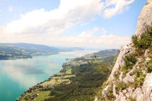 Mahdlgupf Klettersteig in Weissenbach am Attersee in Oberösterreich