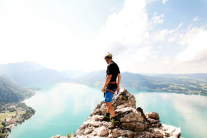 Mahdlgupf via ferrata in Weissenbach am Attersee in Upper Austria