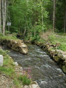 Schwarzenbergscher Schwemmkanal an der österreichisch-tschechischen Grenze in St. Oswald bei Haslach