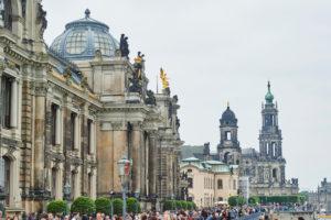 Brühlsche Terrasse, Dresden, Art Academy with Kunsthalle, Dresden, Saxony, Germany