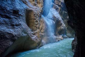 Partnach gorge, hiking trail, summer
