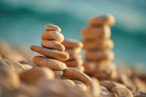 Stones, Cairns, Coast, beach at Lubenice (Sveti Ivan Beach), Cres, Croatia, Europe