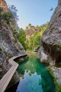 Landscape, Río Matarraña, El Parrizal Beceite, Beceite, Teruel Province, Aragon Autonomous Region, Northern Spain, Spain, Europe