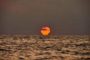 Landscape, sunrise, sea, Ebro Delta, Tarragona Province, Catalonia, Northern Spain, Spain, Europe