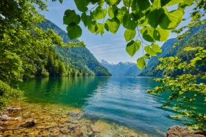 Koenigsee, Schoenau am Koenigssee, Berchtesgadener Land, Bavaria, Germany, Europe
