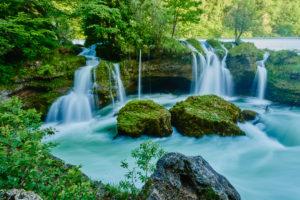 Traunfall, Traun, Upper Austria, Austria, Europe