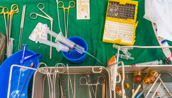 Surgical instruments-Heart valve replacement surgery, operating room,