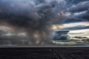 Volcanic Plumes with toxic gases, Holuhraun Fissure Eruption, Iceland. August 29, 2014 a fissure eruption started in Holuhraun at the northern end of a magma intrusion, which had moved progressively north, from the Bardarbunga volcano. Picture Date-Sept.2, 2014