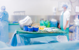 Heart valve replacement surgery, operating room,