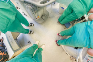 Surgeons, Heart valve replacement surgery, operating room,