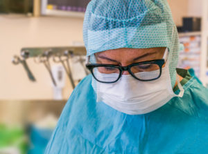 Surgical nurse-Heart valve replacement surgery, operating room,