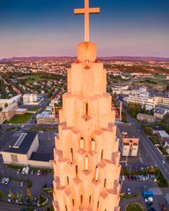 Hallgrimskirkja Church Tower, Reykjavik, Iceland