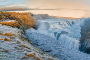 Gullfoss Waterfalls in the winter, Iceland