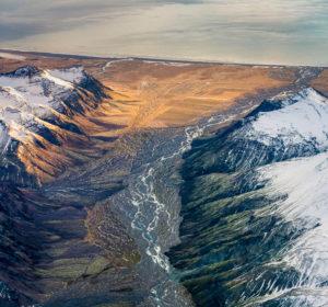Glacial landscapes, Vatnajokull National Park, Vatnajokull Ice Cap, Iceland.