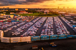 Cars and shipping containers, Reykjavik Harbor, Iceland