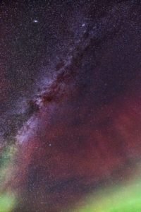 Milky Way and Aurora Borealis, Iceland