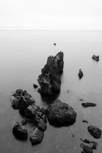 The Atlantic coast, rock, view to the sea, rock formation, Iceland