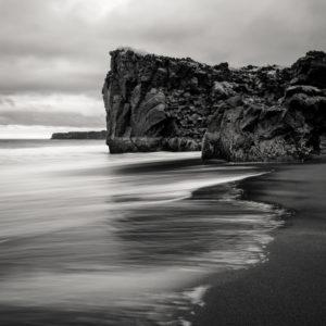 beach photographs with basalt rock, Iceland
