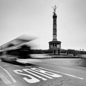 Berlin, Siegessäule, dynamisches, lebendiges Bild,