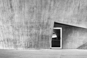 Aufnahme einer Tür, minimalistisch, moderne Architektur