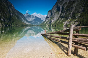 View over the Obersee (lake)
