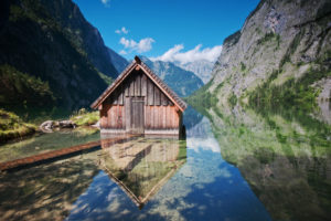 Bootshaus im Obersee