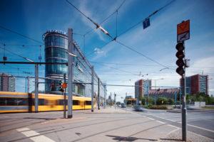 Dresden, Verkehr, Innenstadt, Straßenaufnahme
