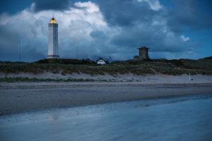 Leuchtturm am Abend, Blavand