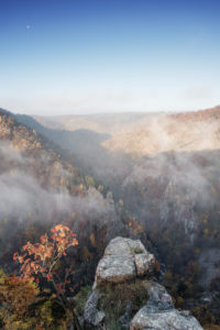 Ausblick von der Rosstrappe im Nationalpark Harz