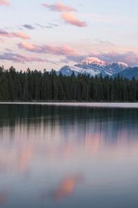 Sonnenuntergang Lake Annette, Jasper National Park, Kanada