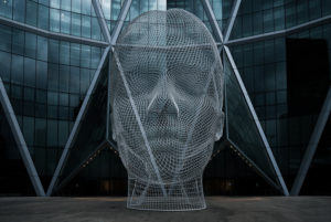 Wonderland Sculpture in front of the Bow Building, Calgary, Canada, artwork,