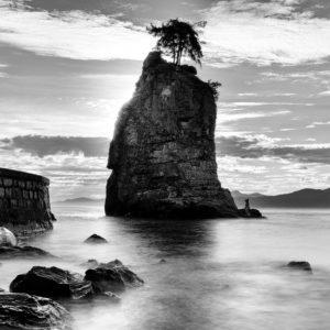 Siwash Rock im Stanley Park, Vancouver, Kanada