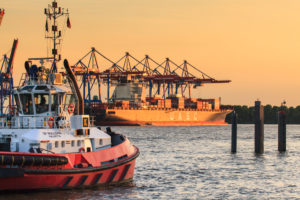 Hamburg harbour, Germany, Europe