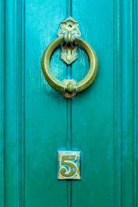 Doorknocker in Dublin, Ireland