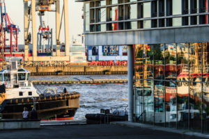 Altona harbor, Hamburg.