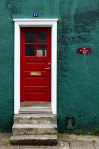Front door in Reykjavik, Iceland