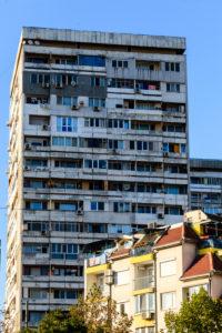 Skyscraper in Burgas, Bulgaria.