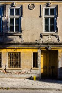 House facade in Burgas, Bulgaria.