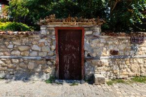 Historic street in Nessebar, Black Sea coast, Bulgaria